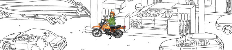 Niklas Böwer - Illustration yamaha xt500